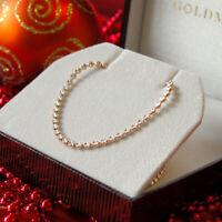 Goldmaid Kette Halskette Collier Rosè 925 Silber rot vergoldet diamantiert 45 cm