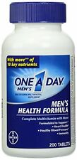 One-A-Day Multivitamin Mens Health Formula 200 Tablet Bottle Each