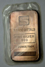 RARE Simmons REFCO Vintage 1 Oz .999 Silver Bar Sealed! Nat.Toned with Serial #!