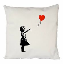 BANKSY CUSHION COVER PILLOW CASE VINTAGE RETRO FASHION IDEAL GIFT PRESENT