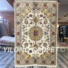 Yilong 2'x3' Handmade Silk Carpet Classic Home Interior Vintage Rug WY271C
