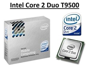 Intel Core 2 Duo T9500 SLAQH Dual Core Processor 2.6 GHz, Socket P, 35W CPU