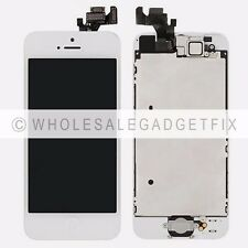 White Iphone 5 LCD Display Screen Touch Screen Digitizer + Front Camera + Button