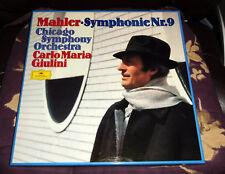 MAHLER Symphonie Nr. 9 MINT Carlo Giulini Chicago Deutsche Grammophon 2-LP BOX