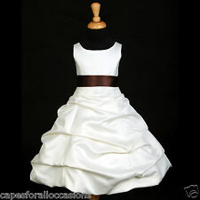 NEW IVORY COMMUNION BAPTISM PAGEANT DRESS FLOWER QUINCEANERA 2 4 6 8 10 12 14 16