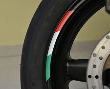 "4x ITALY RIMS WHEELS VINYL STICKER STRIPES FLAG RIM FOR 12/13"" WHEEL MOTORCYCLE"