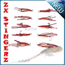 ZX Stinger Hooks Metal Vibes Fishing Lures Vib Jigs Crankbait Bass BREAM SNAPPER