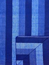 SOFT & WARM BLUE STRIPED ALPACA WOOL BLANKET PLAID 230x170 cm HANDMADE ECUADOR