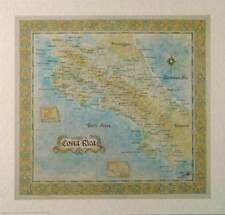 Antique Style  COSTA RICA MAP