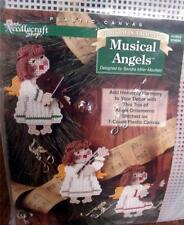 Musical Angels by Sandra Miller Maxfield Plastic Canvas Needlepoint