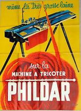 Original French 1950s Phildar Machine Atricoter poster