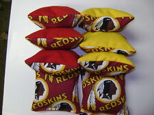 8 Cornhole Bean Bag Set  Baggo Washington Redskins R/Y