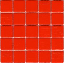 25pcs VTC81 Light Red Bisazza Vetricolor Glass Mosaic Tiles 2cm x 2cm