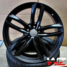 18 in Audi RS6 1196 Avant Style Wheels Rims Satin Black Fits A4 A5 A6 S4