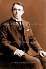 Photo Sepia 5x7: RMS Titanic Designer & Builder Thomas Andrews: Seated View