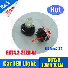 10x  t4.2 led car light White wedge 1 led 12V DC Dashboard Interior Light Bulbs