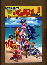 2009 Bomb Queen Presents All Girl Comics #1 NM- Original 1-Shot Sexy!