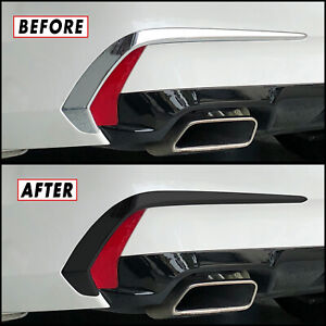 Chrome Delete Blackout Overlay for 2018-20 Acura TLX Rear Bumper Side Trim