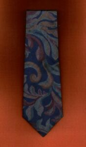 Floral Navy Blue Brown Green Tie by Towncraft 61 x 3.75 Extra Long New