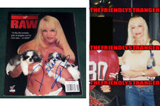 DEBRA McMICHAEL signed Autographed WWF RAW MAGAZINE - PROOF Sexy Puppies WWE COA