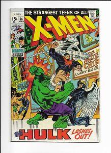 X-MEN #66 ==> FN/VF HULK LASHES OUT! MARVEL COMICS 1970
