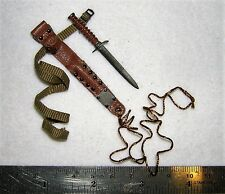 DID 1/6th Scale WW2 U.S. Army Metal Dagger & Sheath - Ryan