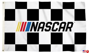 NASCAR CHECKERED FLAG 3'X5' NASCAR RACING 3 X 5 MAN CAVE BANNER USA