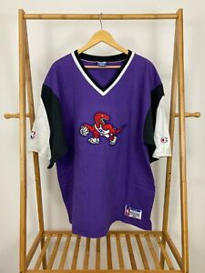 RARE Official VTG Champion Toronto Raptors NBA Stitched Shooting Shirt Jersey XL