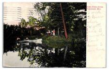 1907 Somo River Scene, Tomahawk, WI Postcard