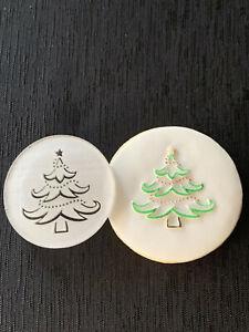 Christmas Cookie Stamp.Christmas Tree Cookie Embosser. Raised Finish.  ACRYLIC
