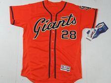 New Buster Posey #28 San Francisco Giants Flex Base Jersey Orange