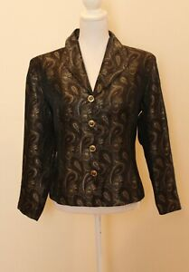 Vintage Geoff Bade - Paisley Jacket - Fully Lined - Size 14 -  GVC