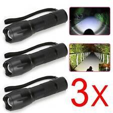3x LED Polizei Taschenlampe SwatT Schwarz Zoom Licht 10000Lumens Camping Mini
