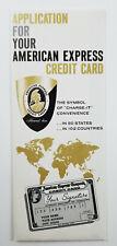Vintage American Express Credit Card Application Brochure Form Unused Circa 1959