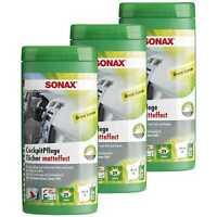 3x SONAX CockpitPflegeTücher Matteffect Green Lemon Box Innenraum Pflege