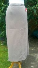Elvi Maxi Skirt Size 16 Beige Lined Fishtail Stretch Elasticated Long NEW