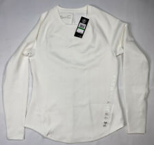 Under Armour ColdGear Womens Long Sleeve Running Top White Workout Size Large