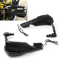 Handlebar Hand Guard Protector w/ Turn Signal Light Lamp For Yamaha MT FZ 07 09