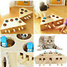 Pet Cat Dog Hunt Toy Indoor Wooden Interactive 3/5-holed Mouse Seat Scratch Toys