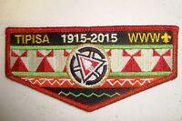 TIPISA LODGE 326 CENTRAL FLORIDA FL PATCH 2015 NOAC OA 100TH CENTENNIAL RMY FLAP