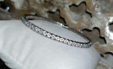 QVC Epiphany sterling silver Diamonique DQCZ tennis eternity bangle bracelet