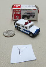 Tomica Capsule Pocket Cars #3 Toyota Megacruiser Patrol Car MIB US Seller