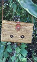 Unique Handwoven Atagrass Rattan Bali bag For all occasions