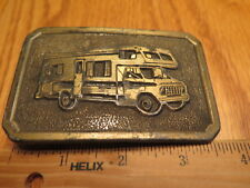 1984 Rv Camper Motor Home Belt Buckle Camping Travel Heavy Brass Plated