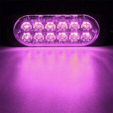12 LED Purple 12W Visor Dash Emergency light Warn Flash Strobe Light Bar fit Car