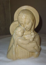 Vierge à l'enfant en plâtre vintage