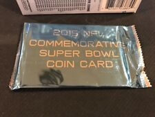 2015 Topps NFL  Football COMMEMORATIVE SUPER BOWL COIN CARD-Factory sealed pack