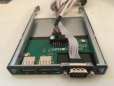 Supermicro Server I/O Front Panel Board Tray USB COM Serial Slip in FPUSB813