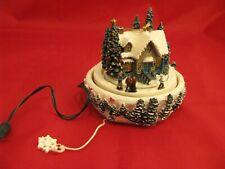 🔵 Thomas Kinkade Christmas *Skater's Pond* Moving Illuminated Ornament