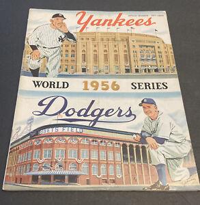 1956 WORLD SERIES~UNSCORED BASEBALL PROGRAM~NEW YORK YANKEES VS BROOKLYN DODGERS